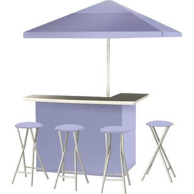 9 Piece Patio Bar Set Color: Lavender