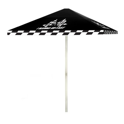 8 I Wanna Go Fast Square Market Umbrella