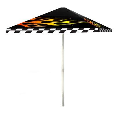 8 Racing Flames Square Market Umbrella