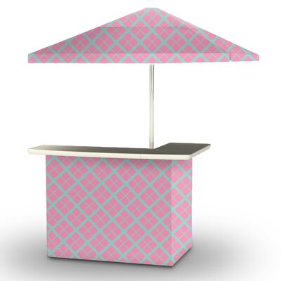 5 Piece Patio Bar Set Color: Teal/Pink