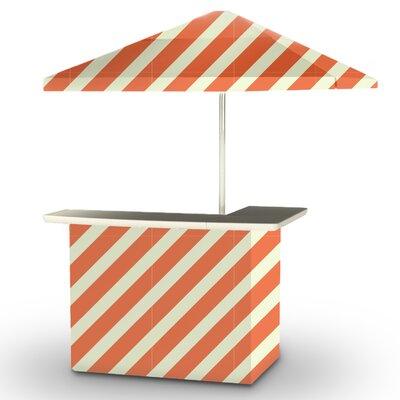 5 Piece Patio Bar Set Color: Orange/Sherbet