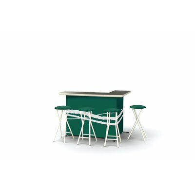 8 Piece Patio Bar Set Color: Classic Green
