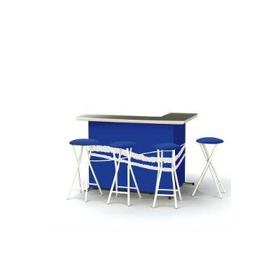 5 Piece Patio Bar Set Color: Classic Blue