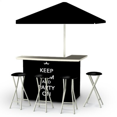 Keep Calm and Party On Bar Set