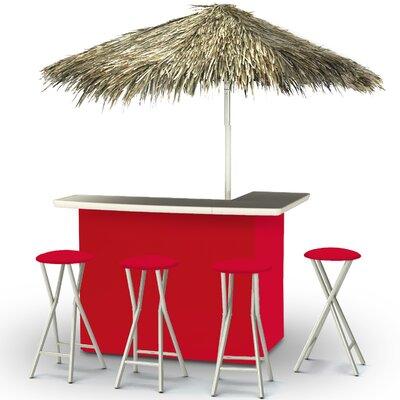Tiki Bar Set Finish: Red