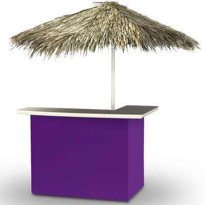 Home Tiki Bar Set Finish: Purple