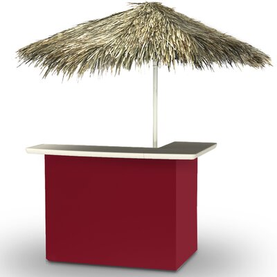Home Tiki Bar Set Finish: Burgundy