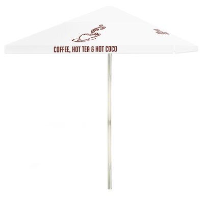 8 Coffee Square Market Umbrella Color: White
