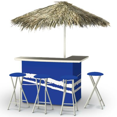 Tiki Bar Set Finish: Blue
