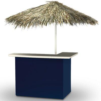 Home Tiki Bar Set Finish: Navy Blue