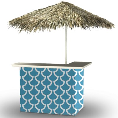 Fun with Fins Tiki Bar Set Finish: Ocean Blue