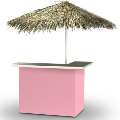 Home Tiki Bar Set Finish: Pink