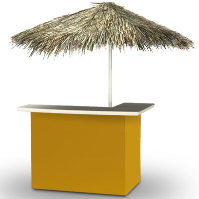 Home Tiki Bar Set Finish: Gold