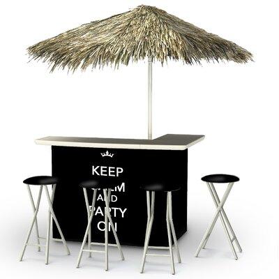 Keep Calm and Party On Tiki Bar Set