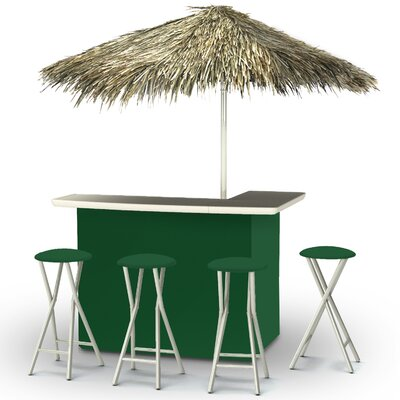Tiki Bar Set Finish: Green