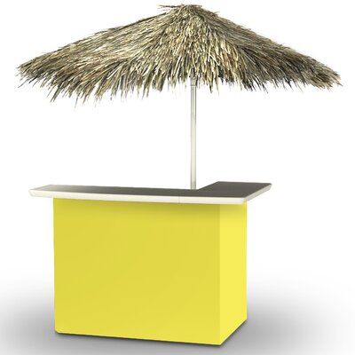 Home Tiki Bar Set Finish: Yellow