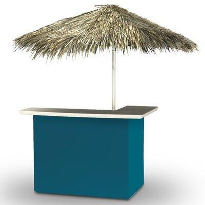 Home Tiki Bar Set Finish: Sea Blue