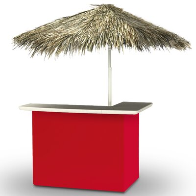 Home Tiki Bar Set Finish: Red