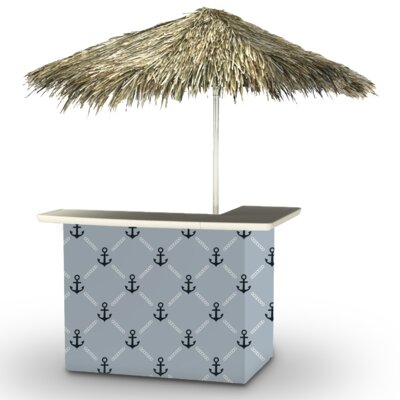 Anchors Away Tiki Bar Set Finish: Navy/Gray