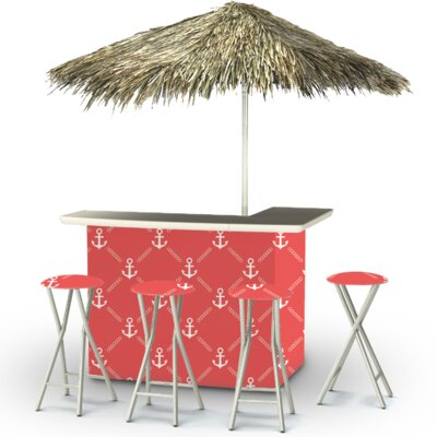 Anchors Away Tiki Bar Set Finish: White/Red