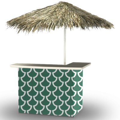 Fun with Fins Tiki Bar Set Finish: Ocean Green