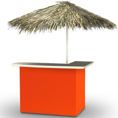 Home Tiki Bar Set Finish: Orange