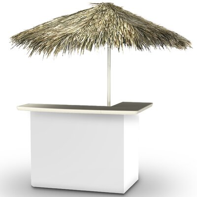 Home Tiki Bar Set Finish: White