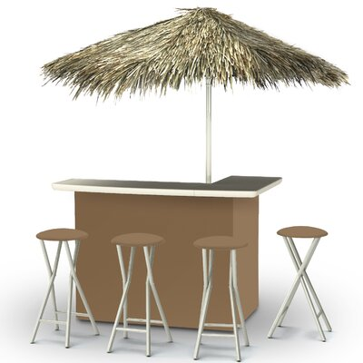Tiki Bar Set Finish: Light Brown