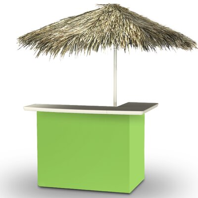 Home Tiki Bar Set Finish: Lime