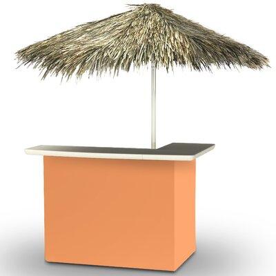 Home Tiki Bar Set Finish: Peach
