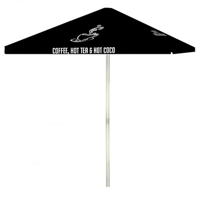 8 Coffee Square Market Umbrella Color: Black