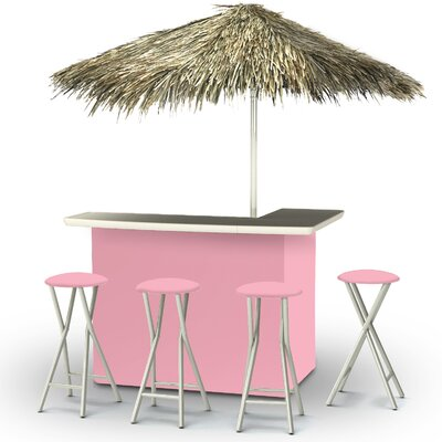 Tiki Bar Set Finish: Pink