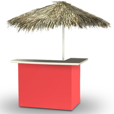 Home Tiki Bar Set Finish: Salmon