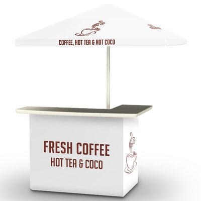Coffee Bar Set Finish: White