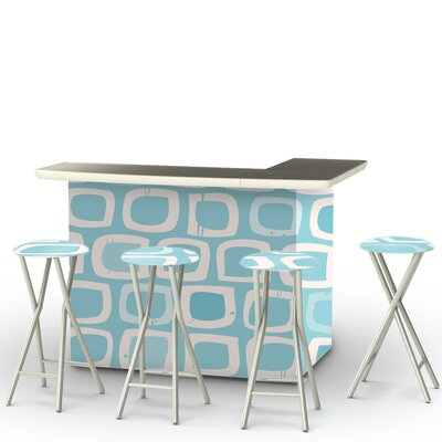 Its A Girl Bar Set Finish: Blue