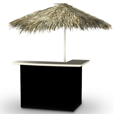 Home Tiki Bar Set Finish: Black