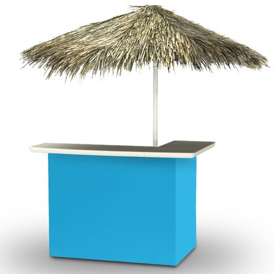 Home Tiki Bar Set Finish: Sky Blue
