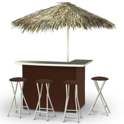 Tiki Bar Set Finish: Dark Brown