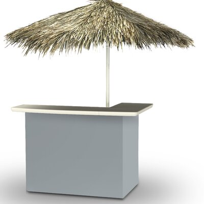 Home Tiki Bar Set Finish: Gray