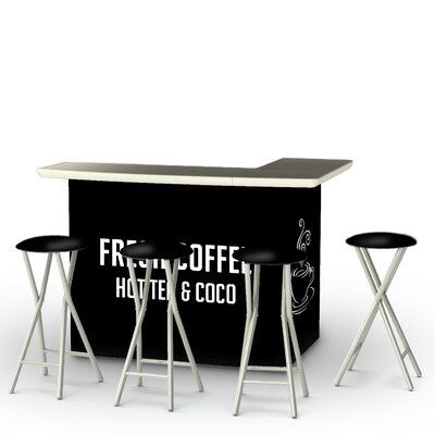 Coffee Bar Set Finish: Black