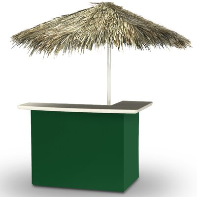 Home Tiki Bar Set Finish: Green