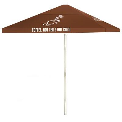 8 Coffee Square Market Umbrella Color: Brown