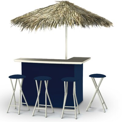 Tiki Bar Set Finish: Navy Blue