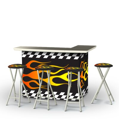 Racing Flames Bar Set