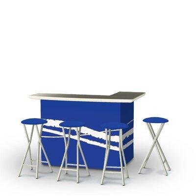 8 Piece Patio Bar Set Color: Classic Blue