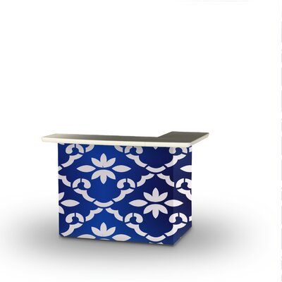 Patio Bar Color: White/Celtic Blue