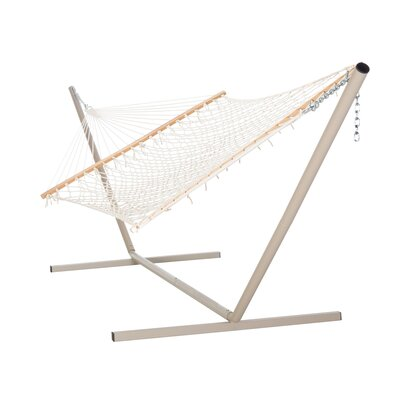Large Cotton Rope Hammock with Stand