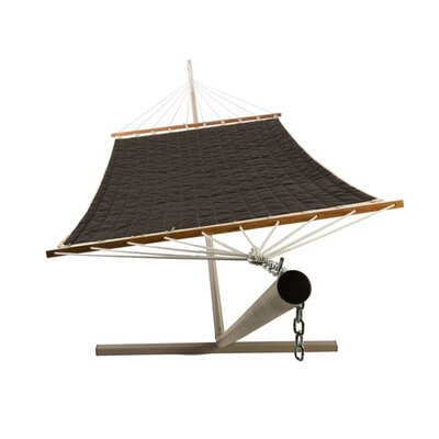Quilted Olefin Tree Hammock Color: Onyx Black