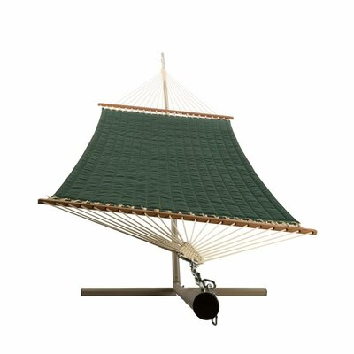 Quilted Olefin Tree Hammock Color: Forest Green