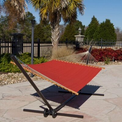 Large Quilted Hammock Color: Rust Solid